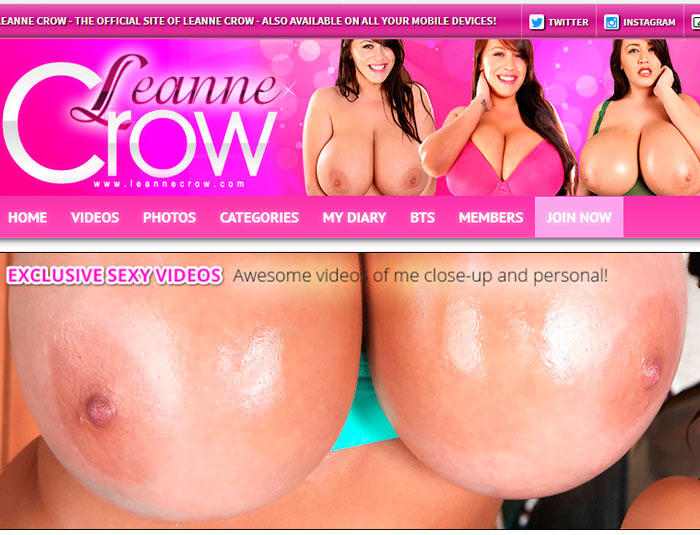 Best hd porn website about the hot model Leanne Crow